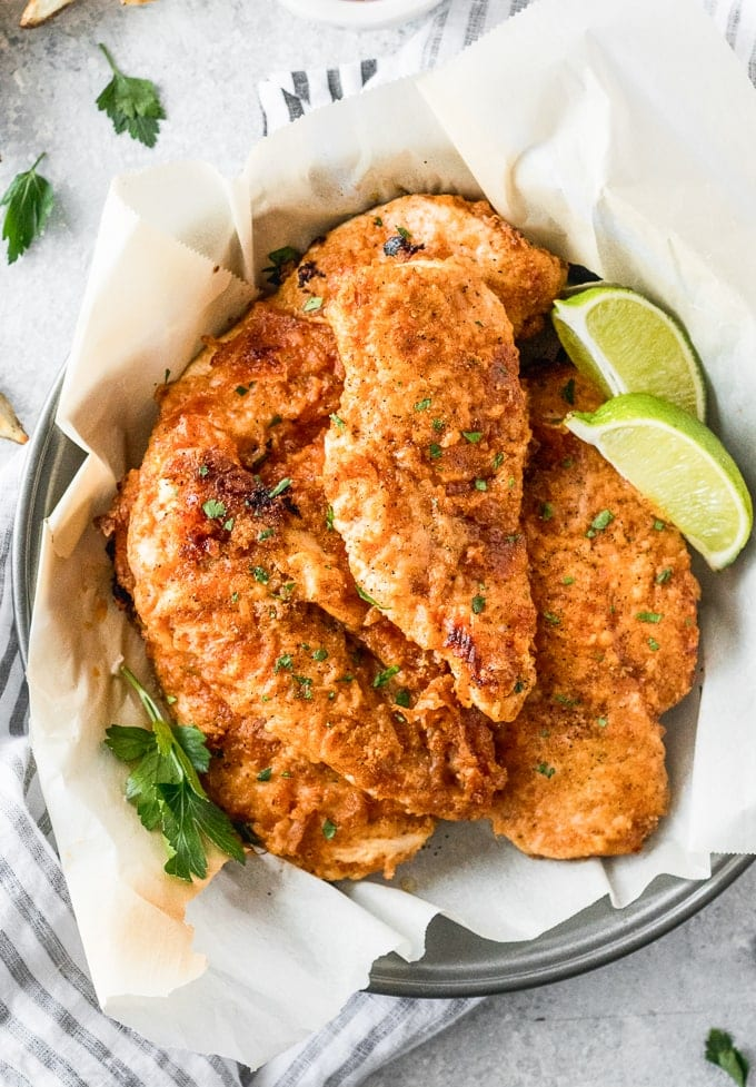 Oven Fried Chicken (Baked Fried Chicken Breast)