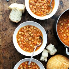Curried Chickpea and Lentil Soup